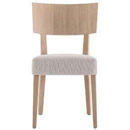 Chaise Elle Pedrali chêne bois velour cuir tissu garnie mobilier