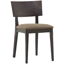 Chaise Elle Pedrali chêne bois velour tissu cuir garnie mobilier