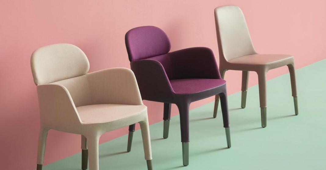chaise Ester Patrick Jouin pedrali tissu cuir acier aluminium mobilier