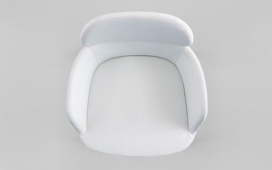 Fauteuil Ester pedrali tissu cuir garni acier aluminium mobilier