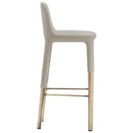 Chaise haute Ester Patrick Jouin Pedrali velour tissu cuir aluminium