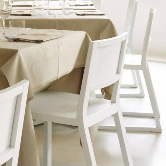 Chaise Feel Pedrali bois chêne garni tissu cuir velour plaza mobilier