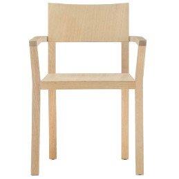 Fauteuil Bridge Feel Pedrali chene bois personnalisable cuir mobilier