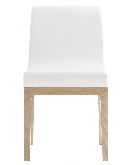 Chaise Gilda Pedrali chene cuir garni tissu velour plaza mobilier