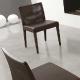 Chaise Glam Pedrali chene cuir garni tissu velour plaza mobilier