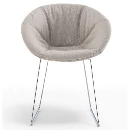 Coussin Rembourré coque fauteuils Gliss technopolymère plaza mobilier
