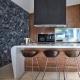 Tabouret Gliss pedrali acier polycarbonate mobilier