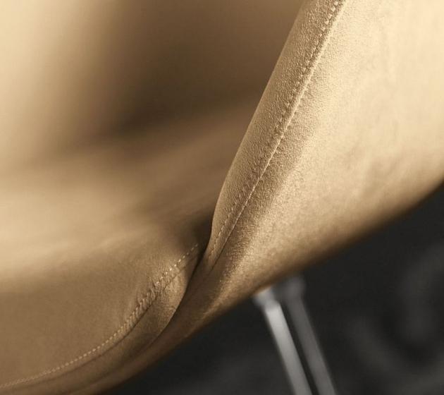 Fauteuil Gliss pedrali acier inoxydable pivotant cuir chromé