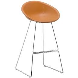 tabouret gliss pedrali acier cuir mobilier