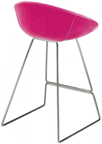 Tabouret Gliss pedrali acier cuir mobilier garni ergonomique