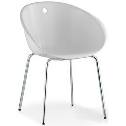 Fauteuil Gliss pedrali technopolymère polycarbonate plaza mobilier