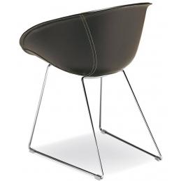 Fauteuil Gliss cuir acier pedrali mobilier