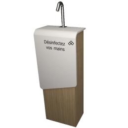 distributeur automatique de savon hydro-alcoolique desinfectant sans contacts V-korr Gel express totem