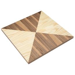 Plateau de table bois placage marqueterie plaqué triangle bois naturel noyer olivier