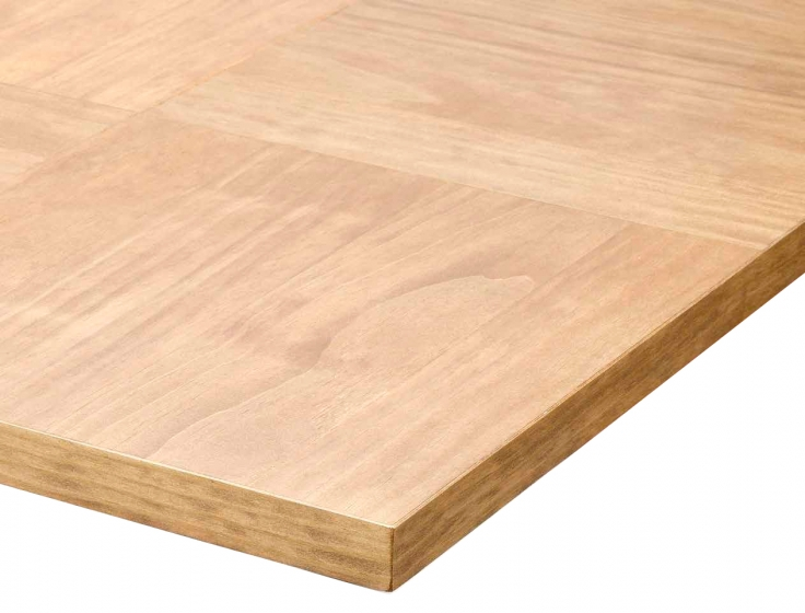 Plateau de table carré plaqué bois marqueterie placage en bois naturel noyer olivier chene