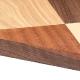 Plateau de table marqueterie carre damier jeu essences de bois noyer chene hetre pin frene olivier