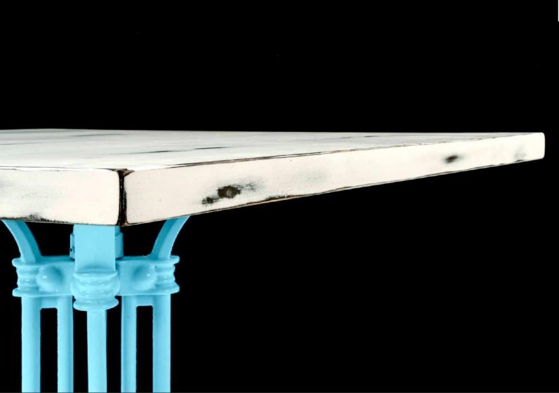 Plateau de table bois vintage bois usé bois flotté bois frotté menuiserie traditionnelle