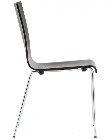 Kuadra Pedrali chaise multiplis chêne acier empilable restaurant