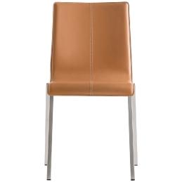 Kuadra Pedrali design chaise cuir tissu acier empilable restaurant entreprise collectif