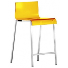Kuadra Pedrali tabouret design rouge orange jaune acier empilable achat inox