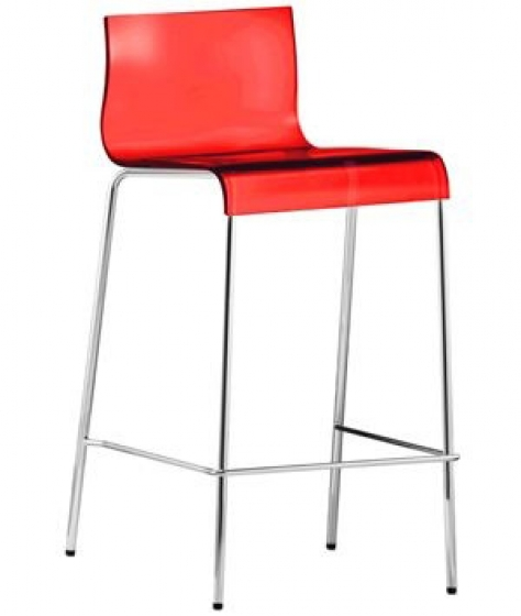 Kuadra Pedrali tabouret design rouge orange jaune acier empilable achat