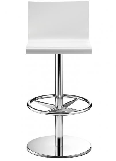 Achat tabouret design pivotant kuadra pedrali blanc inox restaurant