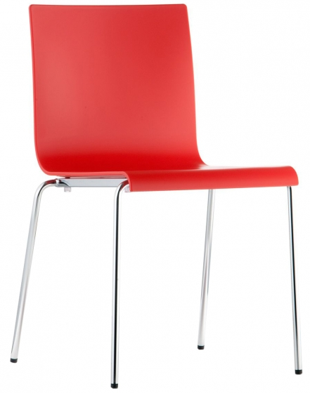 achat chaise rouge kuadra XL pedrali design chaise inox empilable restaurant
