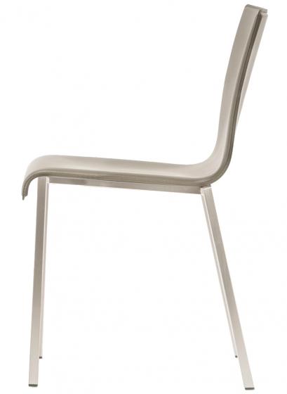 kuadra pedrali design chaise inox mobilier empilable tissu cuir promo chaise confortable