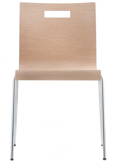 kuadra pedrali design chaise multiplis chene mobilier empilable promo chaise carré bois collectif