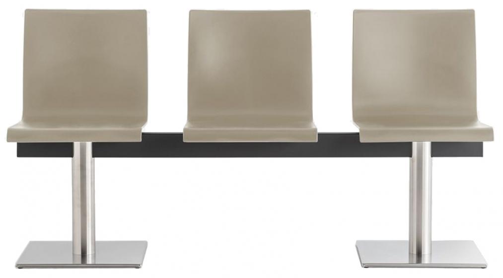 kuadra pedrali design banc noir rouge blanc inox mobilier promo banc 3 places collectivité