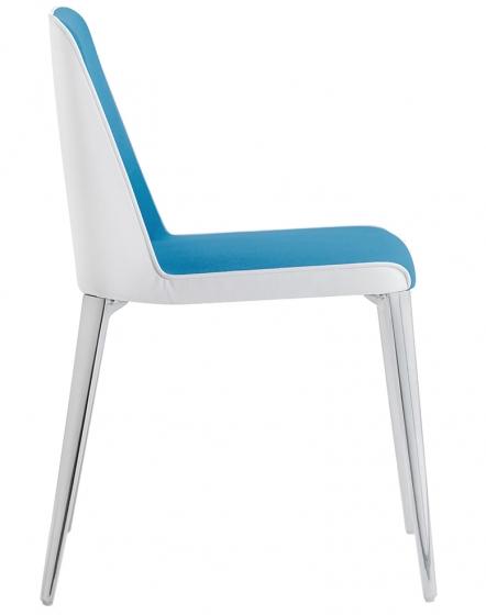 achat pedrali laja 880 chaise plaza mobilier acier cuir tissu promo chaise confortable de luxe grise