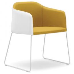 achat pedrali laja 881 fauteuil plaza mobilier acier cuir tissu promo fauteuil confort jaune