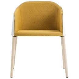 achat pedrali laja 884 fauteuil plaza mobilier frêne cuir tissu promo fauteuil jaune confortable