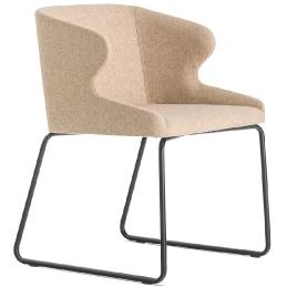 achat pedrali leila 682 fauteuil plaza mobilier acier cuir tissu promo chaise confort