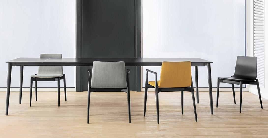 achat pedrali chaise malmo 391 stéphane plaza mobilier frêne cuir bois design chaise confortable