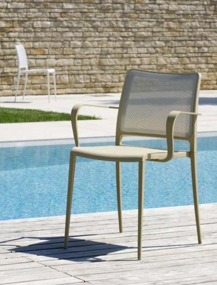 vente pedrali mya 705 fauteuil stéph plaza mobilier noir rouge promo métal outdoor terrasse extérieur
