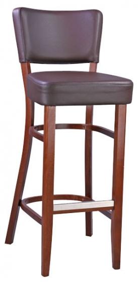 Chaise haute Barowy bois hetre garnie