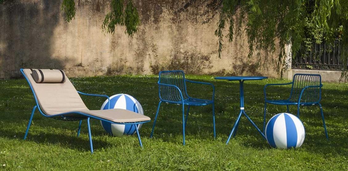 achat pedrali nolita 3655 fauteuil metal jardin cedre rouge fer fil acier