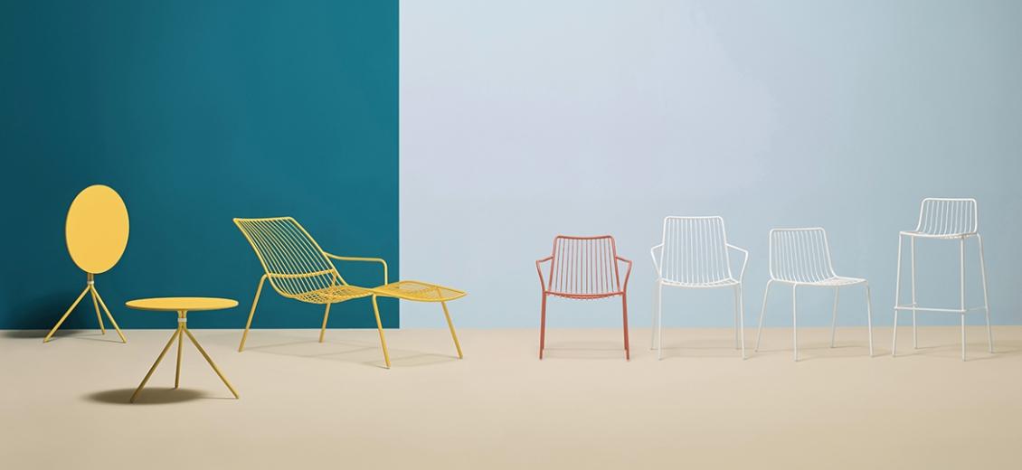 achat pedrali nolita 3659 fauteuil lounge jardin détente fil metal