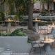 Coussin pedrali rembourré de mousse Adapté pour la chaise lounge Nolita
