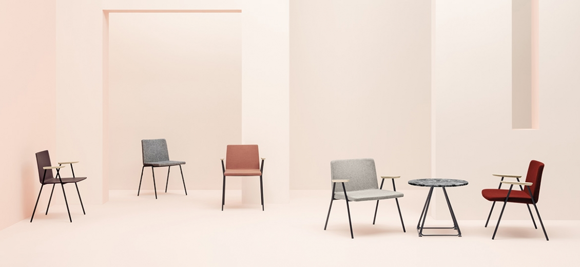 pedrali osaka 5711 chaise bois frene metal empilable collectivité