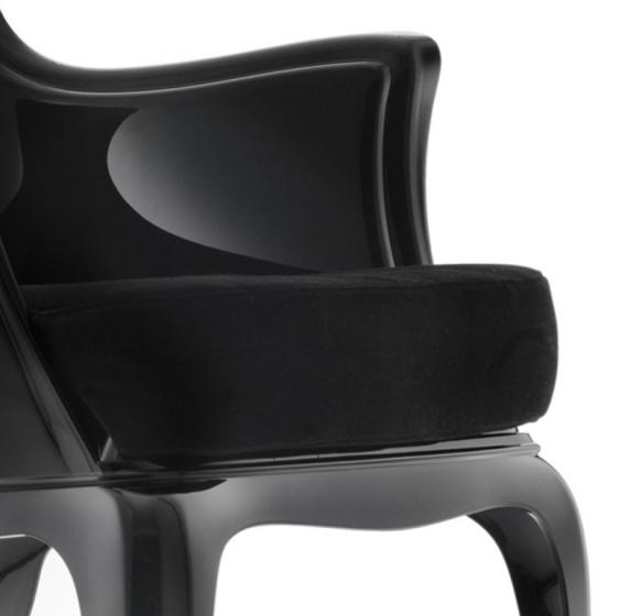 Coussin pasha rembourré recouvert de tissu grand confort au fauteuil Pasha