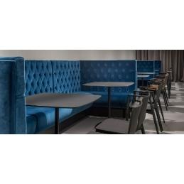 Banquette modulable Modus double angle MDAB MD4 rembourré capitonnée banquette tapissée restaurant design coutures
