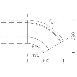 Banquette MD2C60 modulable Modus 2 60° simili cuir tissu velours banquette ronde courbe