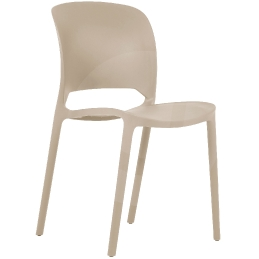 Chaise Lupa polypropylène empilable x 12 confort et design extérieur vert blanc beige grise