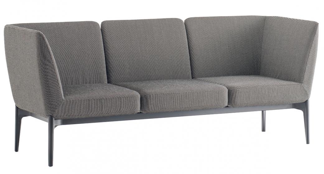Canapé contemporain Social Patrick Jouin Pedrali DSO design confortable 2 3 ou 4 places tructure fonte aluminium assise et do