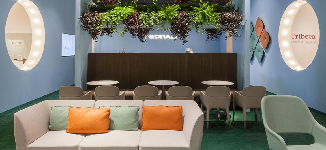 Canapé Social Plus lounge Patrick Jouin Pedrali DS02 Aluminium mousse garni