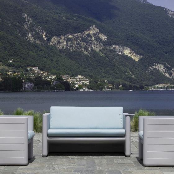 Fauteuil lounge Sunset 625 Alessandro Busana Pedrali résine coussin outdoor extérieur terrasse