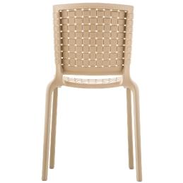 Chaise Tatami 305 Pedrali résine extérieur design empilable polypro beige vert noir marron blanc