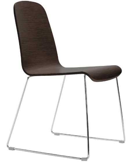 Chaise Trend 439 441 pedrali empilable assise bois acier restaurant
